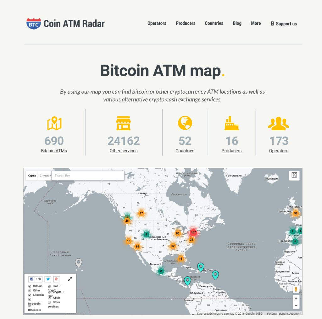 Buy Bitcoin in the USA with cash ATM