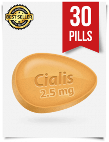 Cialis 2.5 mg Online x 30 Tablets