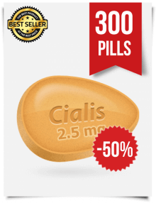 Cialis 2.5 mg Online x 300 Tablets