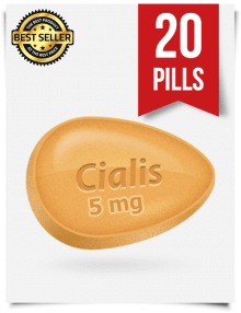 Cialis 5 mg Online x 20 Tablets