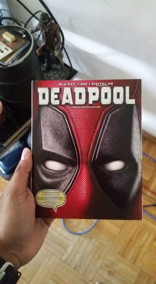Deadpool commercial Viagra Sampels came in a box