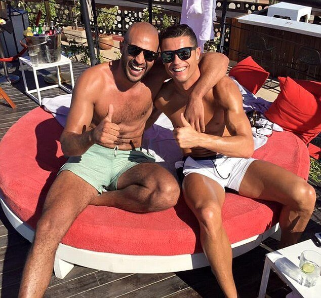 Cristiano Ronaldo hanging out with his boyfriend