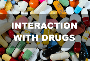 Interaction with drugs